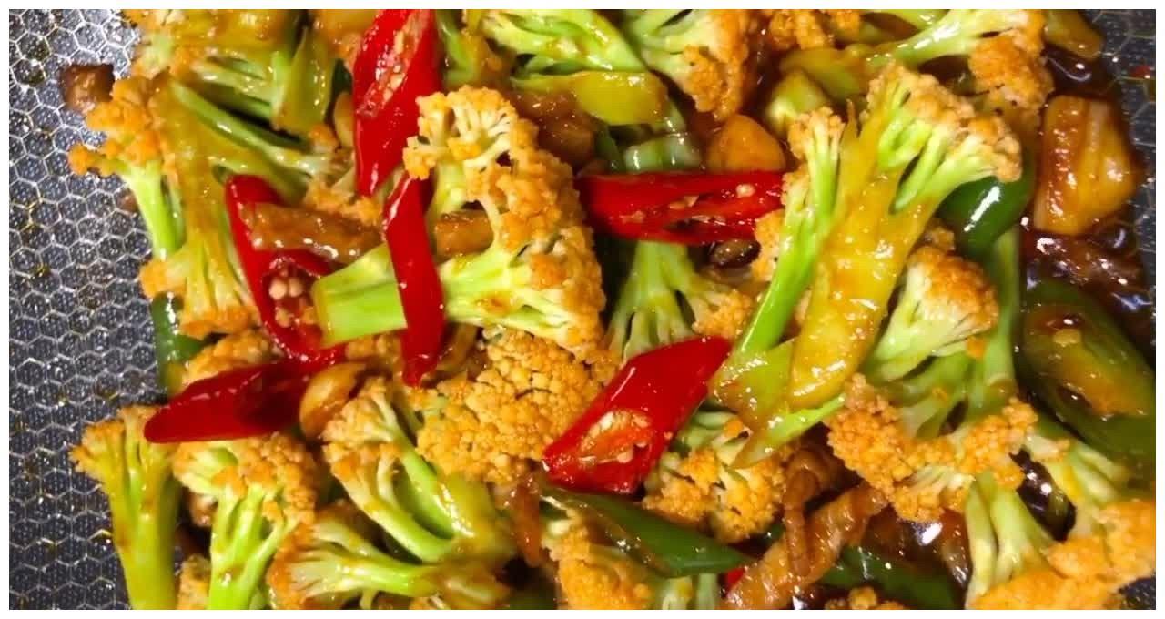 干锅菜花,干香入味脆嫩爽口不油腻,干锅素菜中的传统经典代表!