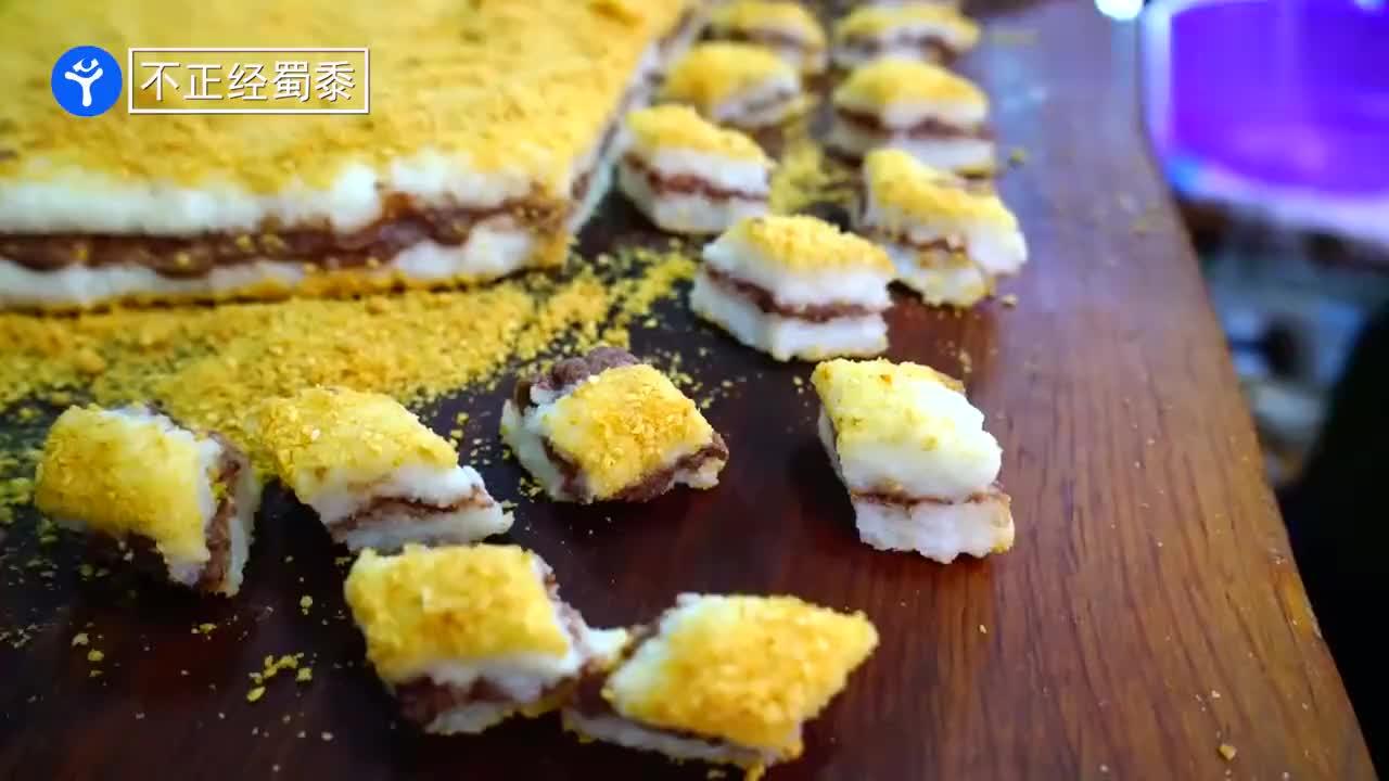 一口梦回唐朝西安阿姨做传统蜂蜜凉糕凉粽37年不图钱图开心
