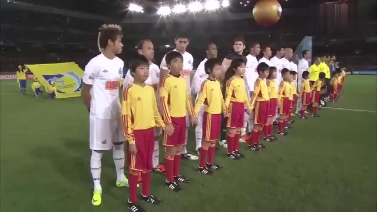 回顾经典7年前梅西与内马尔首次交手,巴塞罗那夺世俱杯