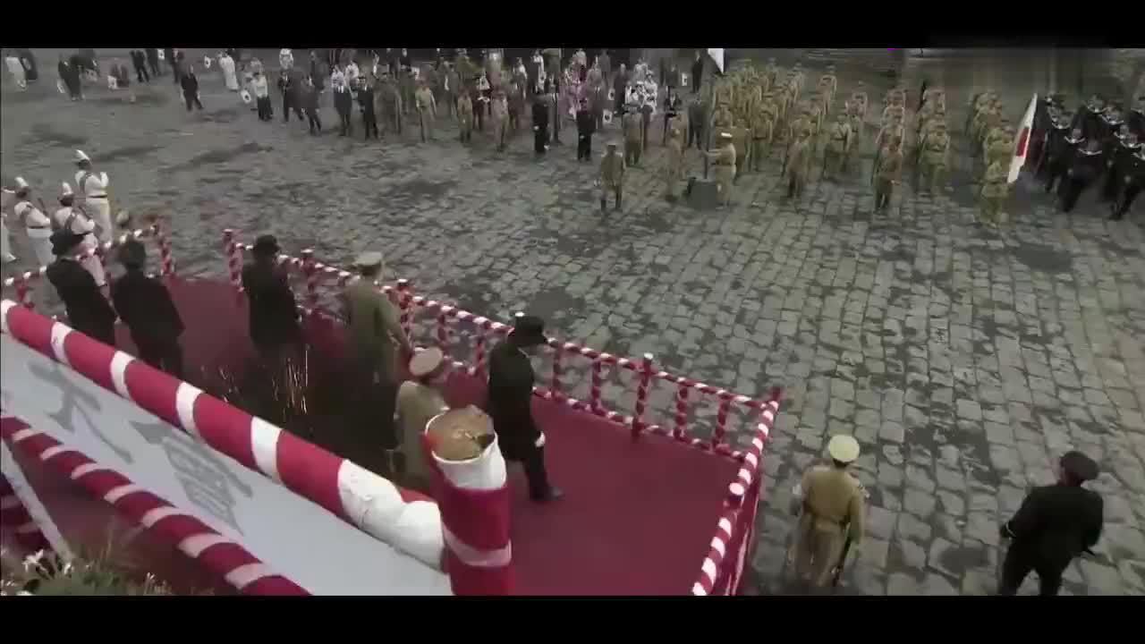 日军举行天长节韩国勇士直接投放炸弹日军大将惨死