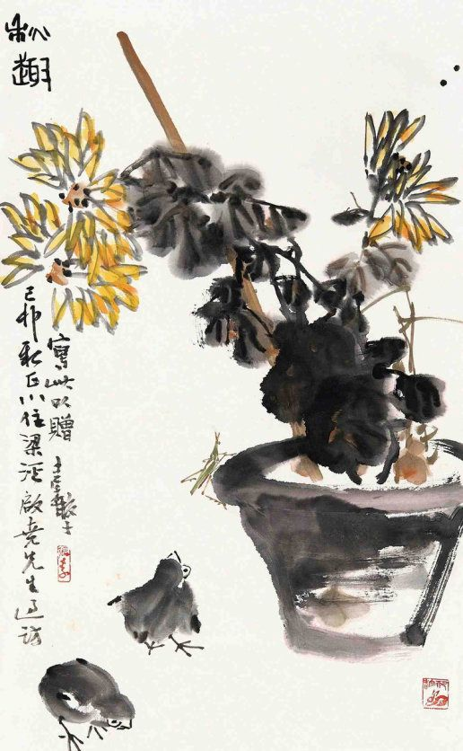 张继馨花鸟画作品欣赏