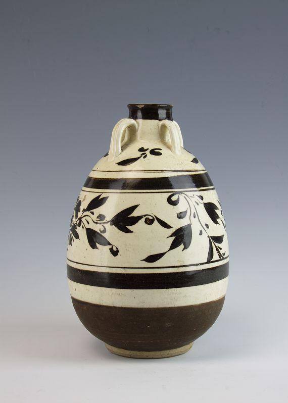 游平度市博物馆,看元代白釉黑花四系罐!让人难忘!