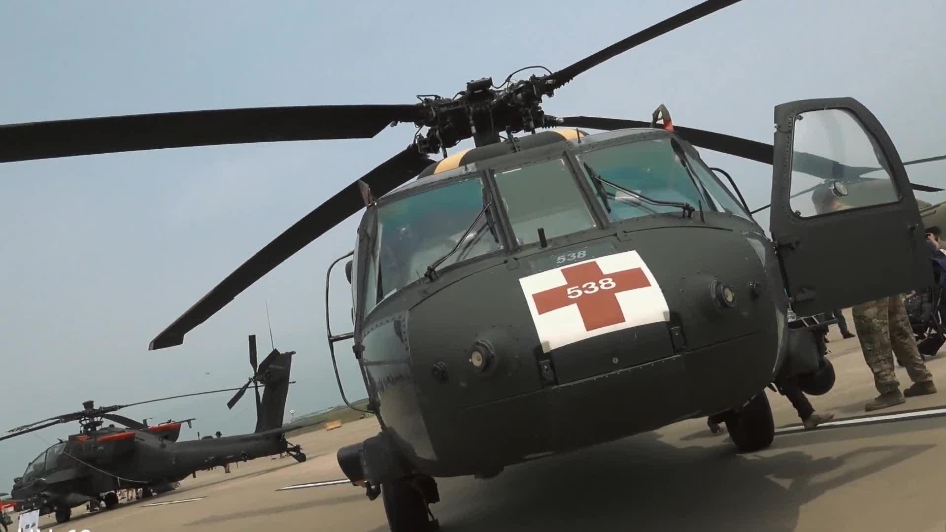 驻韩美军空中机动设备公开展览,来看一下