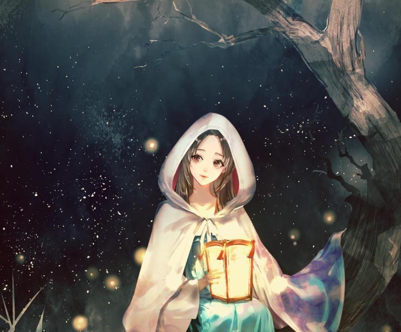 古风手绘女生唯美壁纸,放弃挣扎,换来的平凡!
