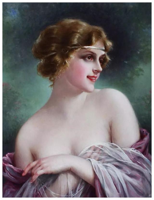 法国绘画:卡维尔描绘的美丽女人