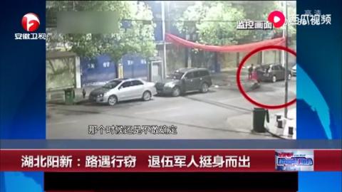 [超级新闻场]湖北阳新:湖北阳新:路遇行窃 退伍军人挺身而出