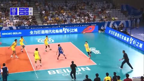 无缘直通东京东奥男排资格赛中国23阿根廷FIVB版集锦