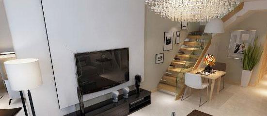 60㎡简约风格复式公寓装修效果图,空间紧凑设计却很温馨!
