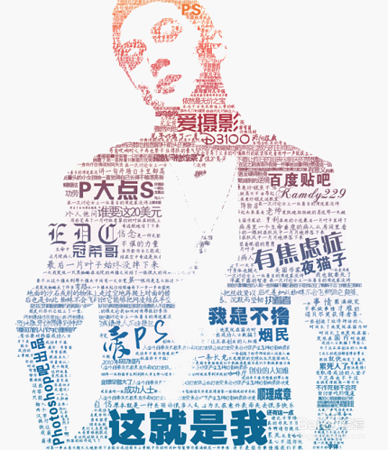 ps合成教程:快速制作ps文字组成图像效果