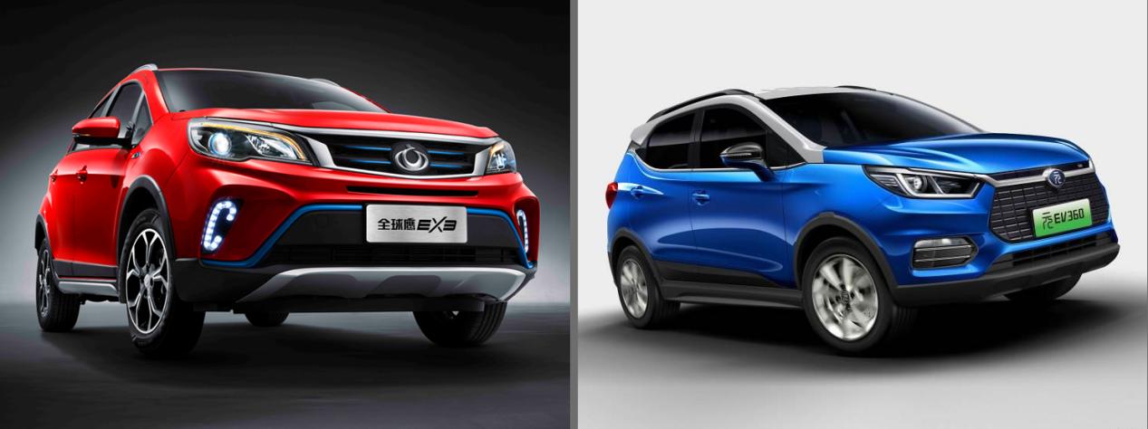 吉利全球鹰EX3对比比亚迪元,同为小型纯电SUV你选谁