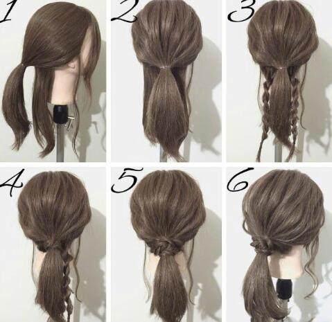 这几款编发发型教程,很简单易懂让你一学就会!
