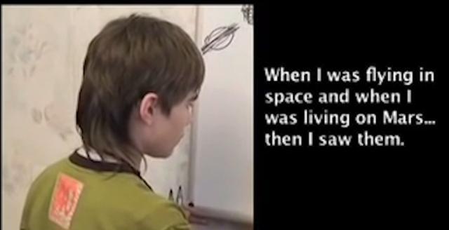 俄罗斯男孩出生几个月就能讲话 竟称自己来自于火星图片