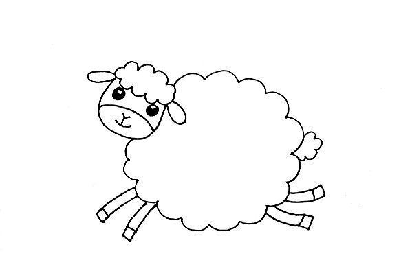 教宝宝画可爱的小绵羊,创意儿童简笔画!