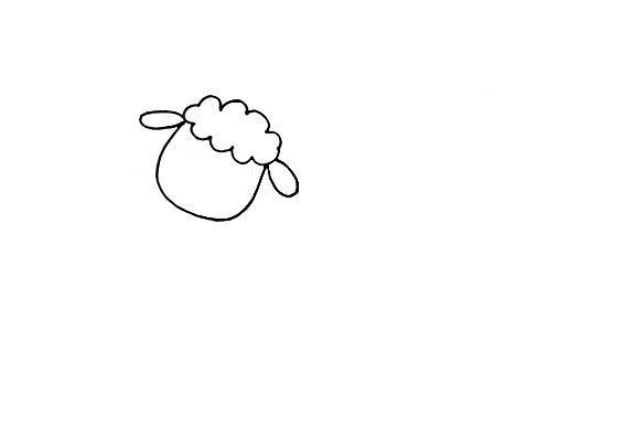 教宝宝画可爱的小绵羊,创意儿童简笔画