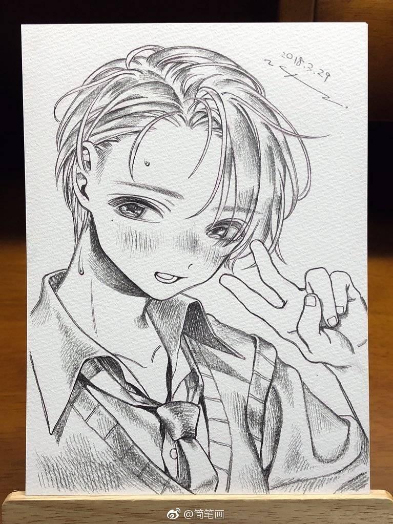 小正太铅笔画,可爱的男孩纸!(by:neguko92)