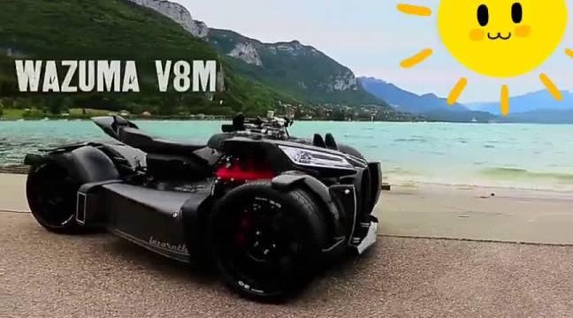 玛莎拉蒂V8引擎的狂野摩托,上路行驶超霸气!每日说车  