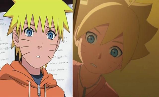 但是父子二人的眉目,鼻子嘴巴都是一模一样的.图片