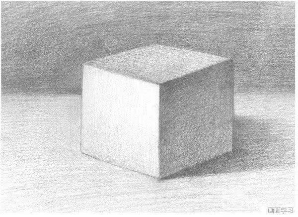 零基础如何学素描,素描正方体长方体的绘画教程图片