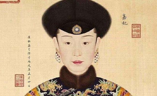 手绘卡通清朝妃子图片