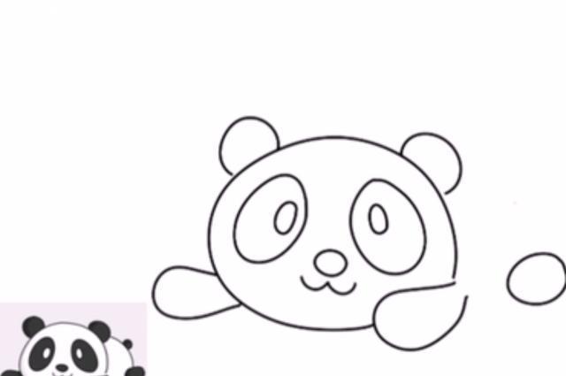 4岁宝宝简直是天才,画超萌超简单的熊猫简笔画图片