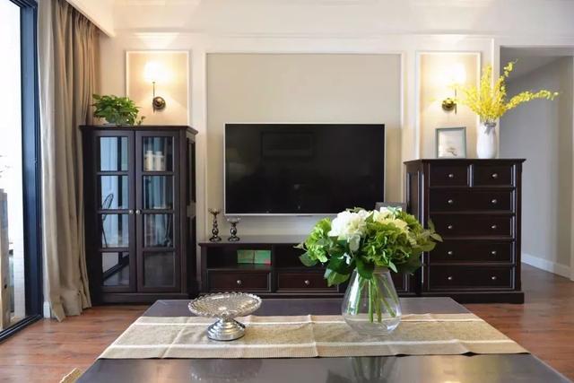 美式客厅电视墙,这样设计显高档!
