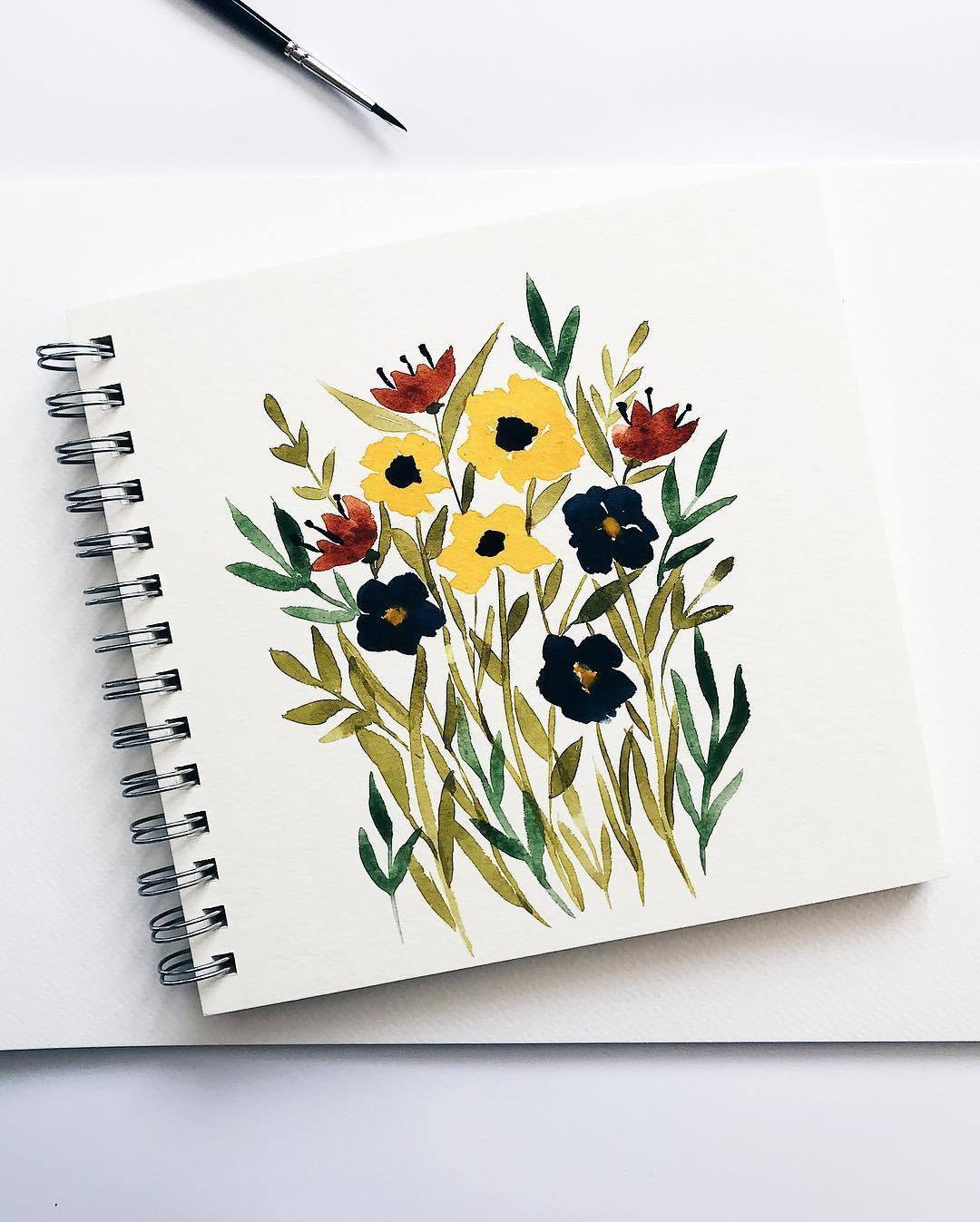 水彩手绘植物素材书签,手帐必备哦~作者ins:alex.illustrates