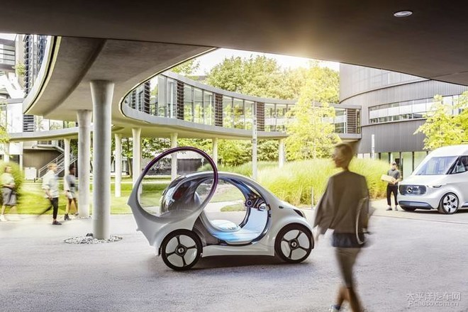 纯电smart概念车亮相CES展会 搭载L5级别自动驾驶