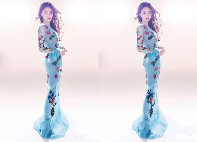 设计师 手绘设计图米兰鱼尾裙
