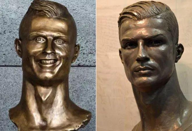 表情那些奇葩雕像表情:C罗梅西成足坛,02年安慰旺旺球星包图片