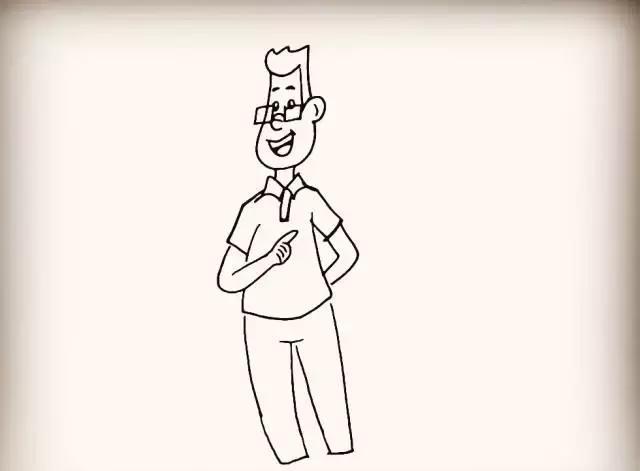 师讯网推荐——幼儿园儿童简笔画教程:大头儿子小头爸爸图片