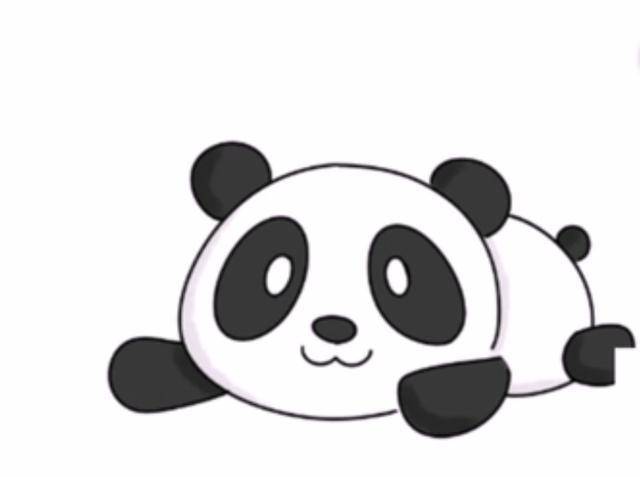 4岁宝宝简直是天才,画超萌超简单的熊猫简笔画