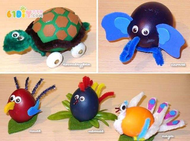 幼儿园创意合辑,鸡蛋壳做可爱人偶动物手工diy案例,幼师宝妈收