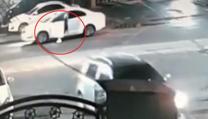 内蒙古女司机深夜驾驶,自己开车碾压自己