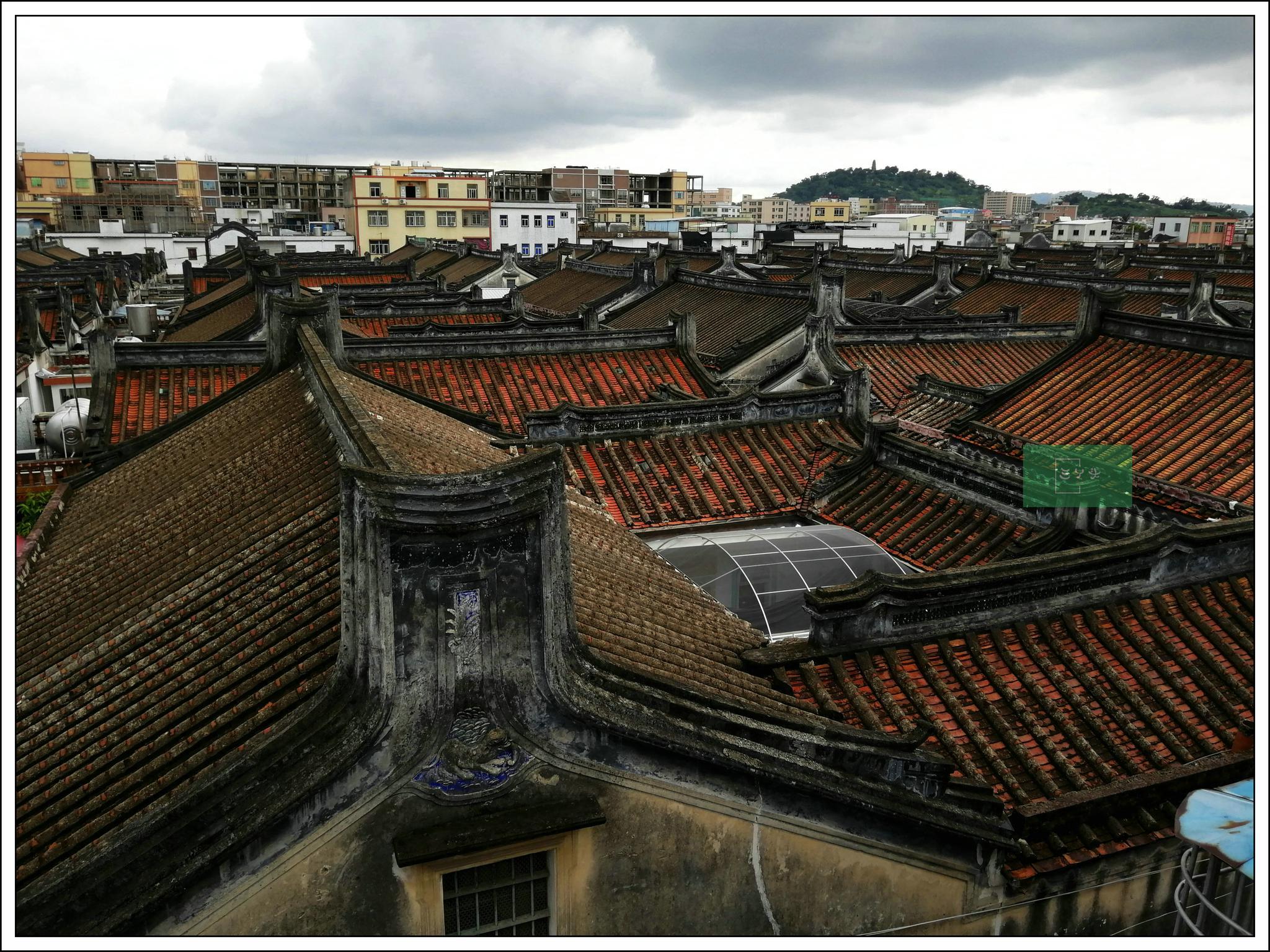 潮汕标志性建筑手绘
