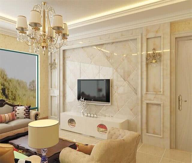 电视墙别只会刷乳胶漆,现在都流行这样装,美观大气