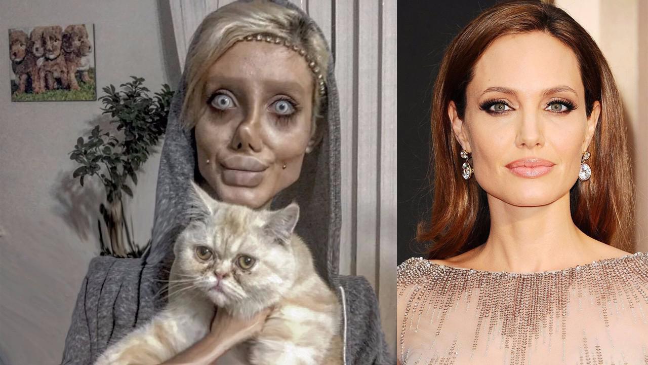 伊朗少女疯狂整容50次,惨变僵尸版安吉丽娜朱莉,收获30万粉丝!