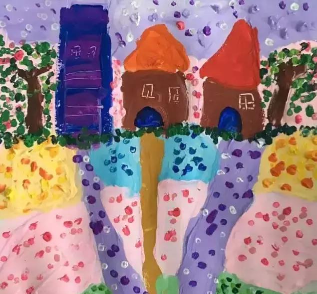 《风景点手工》吧小小视频,大大创意幼儿园棉签棉签视频:美术涂鸦画彩画炭炼图片