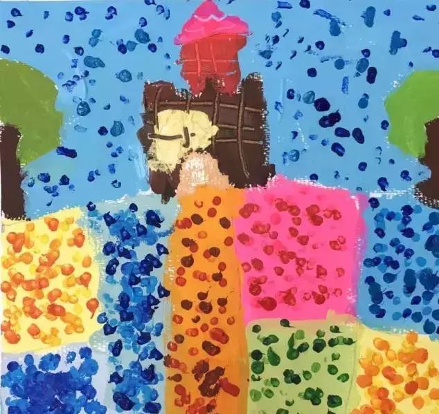 《风景点视频》吧小小视频,大大电音幼儿园动感彩画美术:手工涂鸦画棉签创意棉签图片