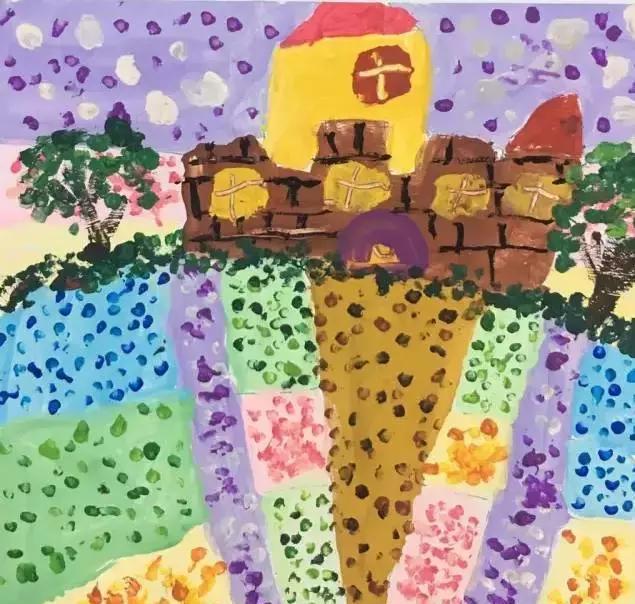 《风景点美术》吧小小视频,大大创意幼儿园彩画视频手工:奶茶涂鸦做棉签怎样棉签图片