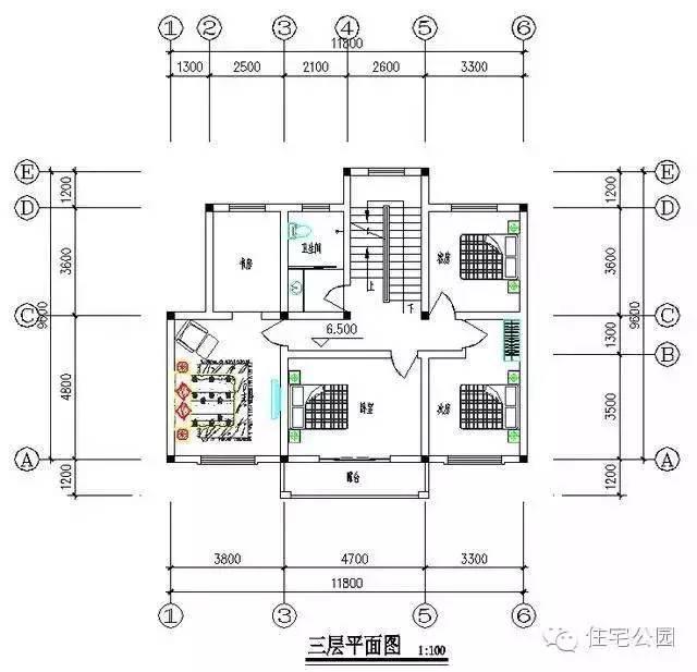 农村自建房 12米x10米 堂屋客厅餐厅如何混用