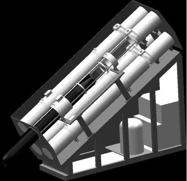 """""""海蜘蛛""""鱼雷的结构视图,该鱼雷由导引头,数字化控制设备,弹头,火箭"""