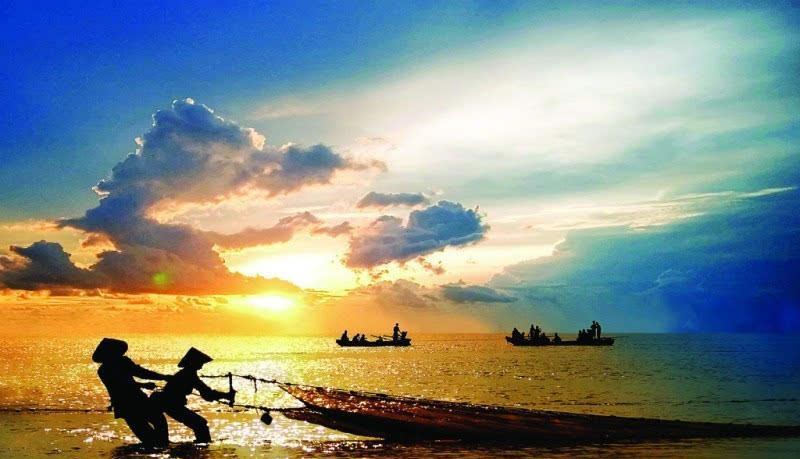 京族三岛是中国大陆与越南交界处的巫头,万尾,山心三个小岛总称.