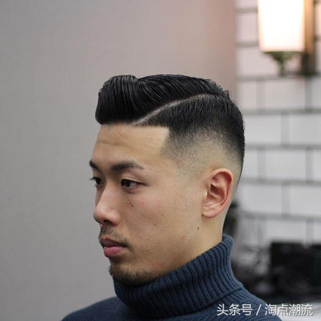 两边剃段头顶烫的背头_2018最新男生发型,渐层背头油头是首选