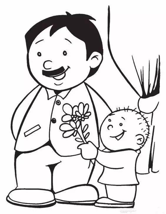 儿童简笔画:每一位父亲,都是孩子心目中的超级英雄(附