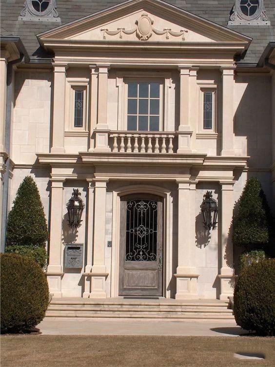 独立欧式石材别墅门头设计案例参考|门头|别墅|罗马柱