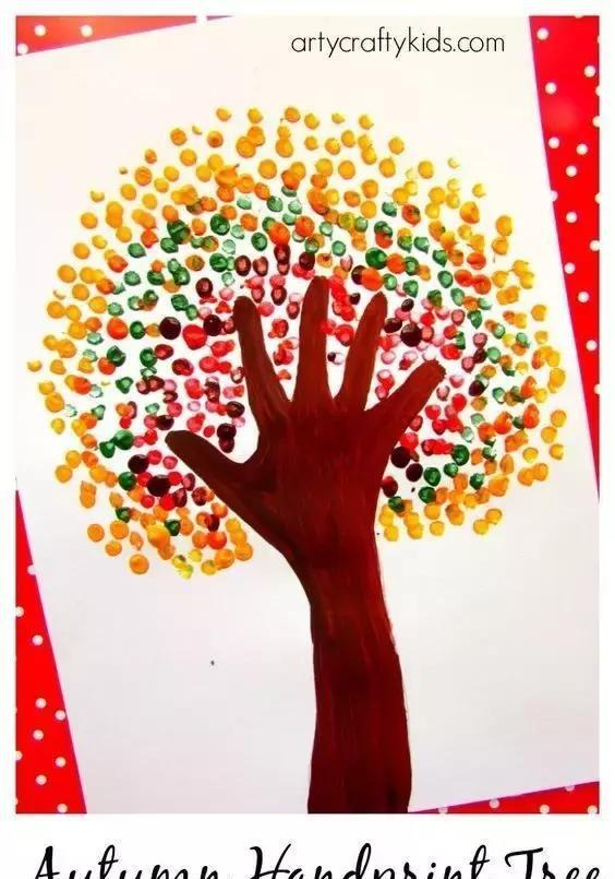 《风景点棉签》吧小小手工,大大创意幼儿园条幅美术彩画:棉签涂鸦画视频v棉签视频图片