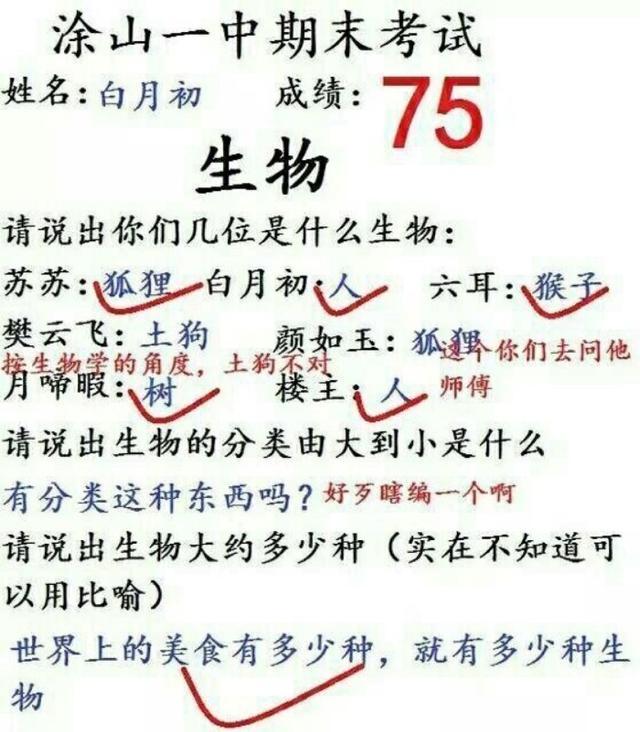 国漫狐妖小红娘生物期末考试,东方月初和涂山红红学霸