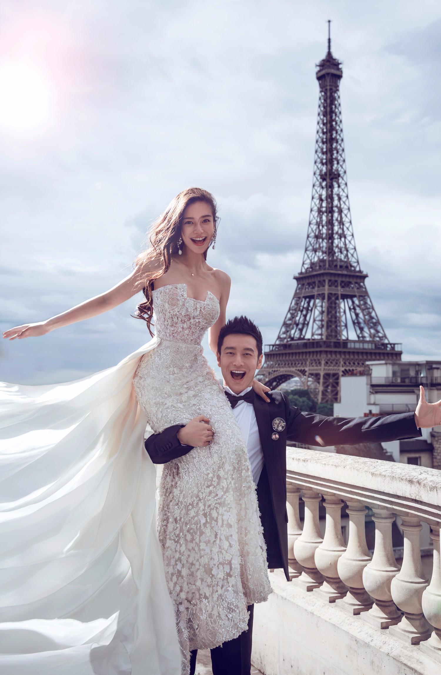 杨颖和黄晓明婚纱照