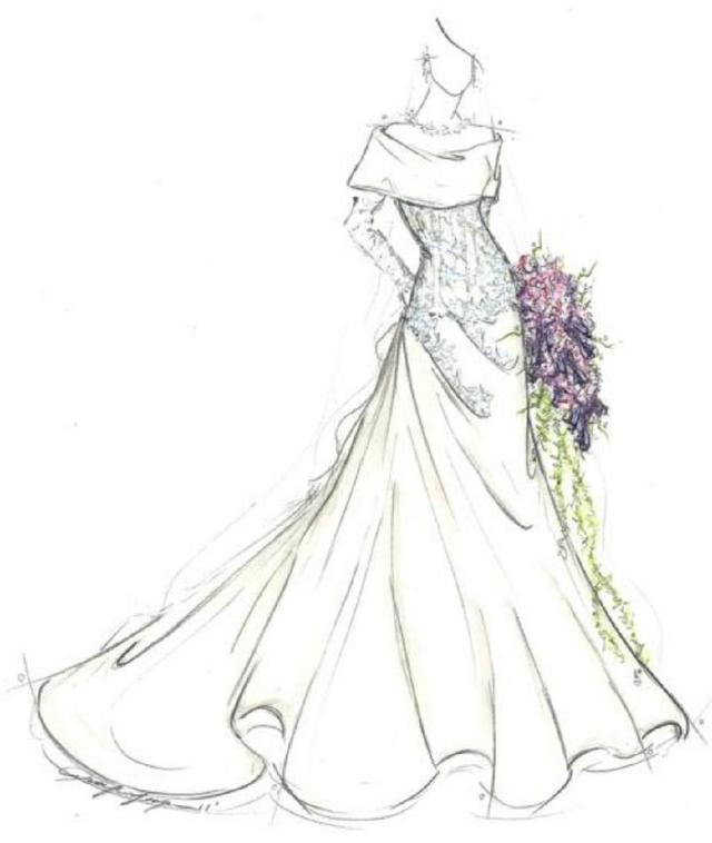 12星座的专属手绘婚纱,狮子尽显高贵女王范儿,射手像
