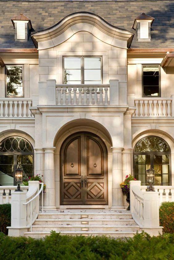 独立欧式石材别墅门头设计案例参考